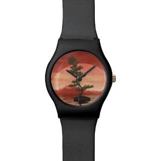 Relogio De Pulso Árvore dos bonsais do pinho escocês - 3D rendem