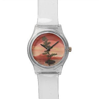 Relógio De Pulso Árvore dos bonsais do pinho escocês - 3D rendem