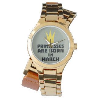 Relógio De Pulso As princesas são em março Z60zh nascidos