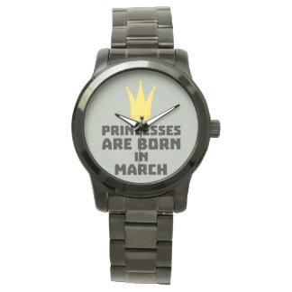 Relógio De Pulso As princesas são em março Zhv17 nascidos