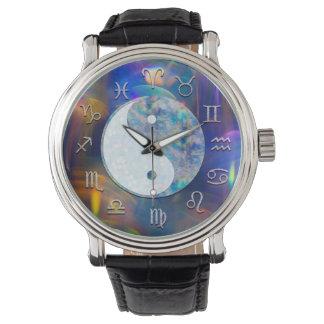 Relógio De Pulso Aura cósmica Yin Yang da astrologia