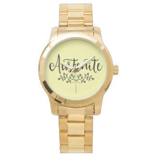 Relógio De Pulso Austenita floral de Jane Austen