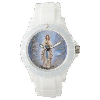 Relógio De Pulso Avenida Maria, silicone branco desportivo feito