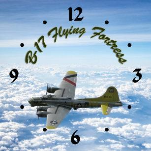 2a256b819c7 Relógio De Pulso Avião do bombardeiro da fortaleza WWII do vôo B17