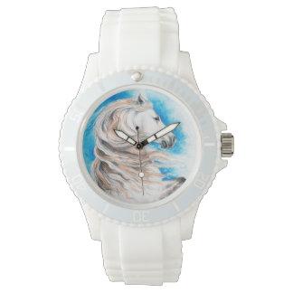 Relógio De Pulso Azul andaluz do cavalo