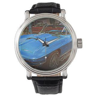Relógio De Pulso Azul Corveta do vintage