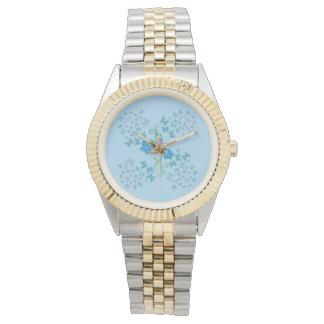 Relógio De Pulso Azul da borboleta