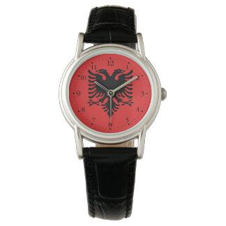 Relógio De Pulso Bandeira albanesa patriótica