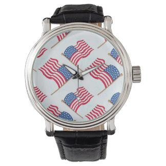 Relógio De Pulso Bandeira americana 4o do azul branco vermelho de