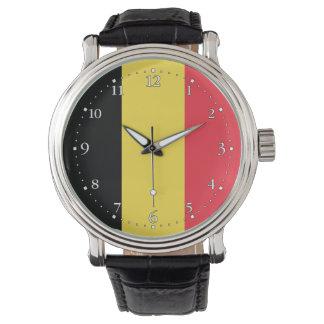 Relógio De Pulso Bandeira belga patriótica