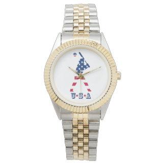 Relógio De Pulso Bandeira do americano do basebol de América