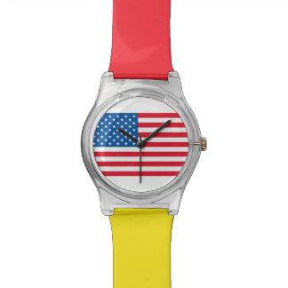 Relogio De Pulso Bandeira dos Estados Unidos da bandeira dos EUA