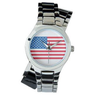 Relógio De Pulso Bandeira dos Estados Unidos da bandeira dos EUA