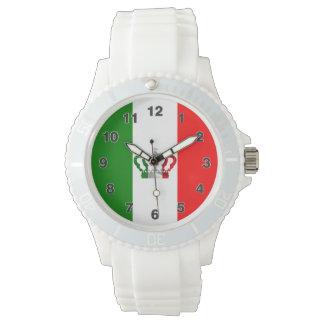 Relógio De Pulso Bandeira moderna do italiano de Italia da coroa do