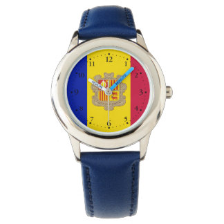 Relógio De Pulso Bandeira patriótica de Andorra