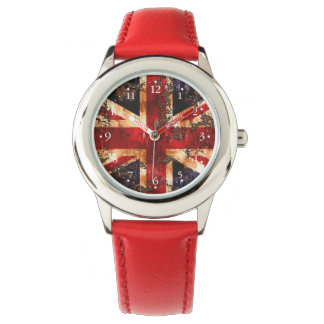 Relógio De Pulso Bandeira patriótica oxidada de Reino Unido