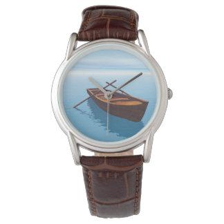 Relógio De Pulso Barco de madeira - 3D rendem