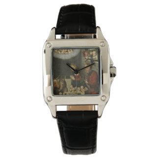 Relógio De Pulso Bebê adorador Jesus dos pastores por Cranach