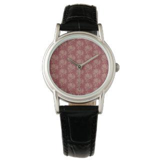 Relógio De Pulso Bege floral do Mini-impressão do estilo étnico no