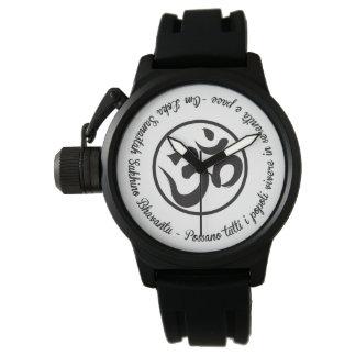 Relógio De Pulso Bhavantu do sukhino do samastah do lokah do OM