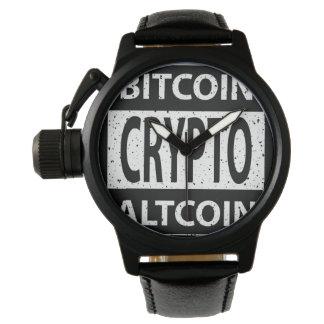 Relógio De Pulso Bitcoin Altcoin cripto