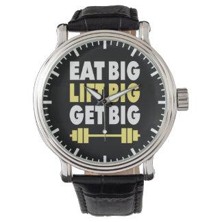 Relógio De Pulso Bodybuilding - coma grande, levantam grande, obtêm