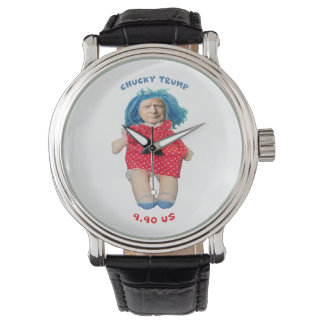 Relógio De Pulso Boneca de Chucky Donald Trump