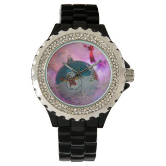 Relógio De Pulso Boneco de neve - bolas do Natal - Feliz Natal