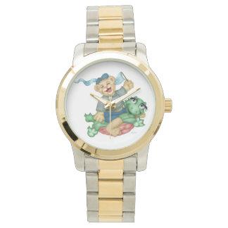Relógio De Pulso Bracelete desproporcionado do Dois-Tom dos