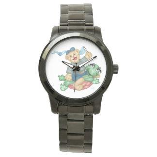 Relógio De Pulso Bracelete preto desproporcionado dos DESENHOS