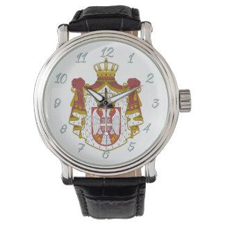 Relógio De Pulso Braços sérvios do casaco