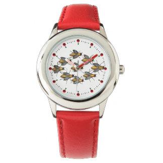 Relógio De Pulso Branco da APICULTURA das ABELHAS/APICULTOR do MEL