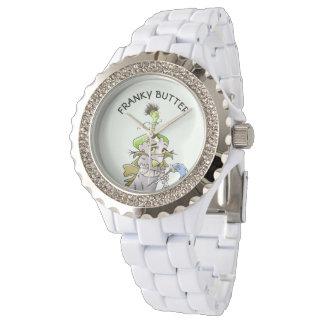 Relógio De Pulso Branco ESTRANGEIRO Ename do cristal de rocha dos