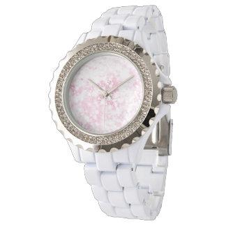 Relógio De Pulso Brilho cor-de-rosa Sparkly