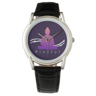 "Relógio De Pulso Buddha. bonito ""consciente"""