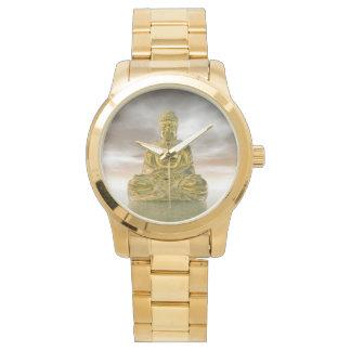 Relógio De Pulso Buddha dourado - 3D rendem