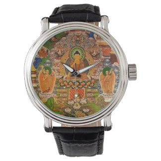 Relógio De Pulso Budismo budista de Buddha que abençoa o Bohemian