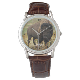 Relógio De Pulso Búfalo americano bonito