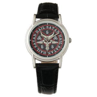Relógio De Pulso Cabra oculto de Baphomet no Pentagram