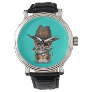 Relógio De Pulso Caçador bonito do zombi de Cub de tigre