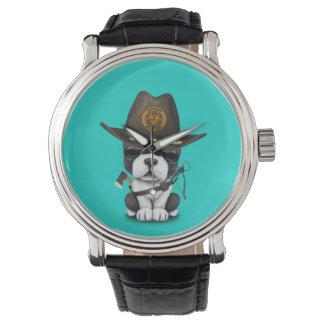 Relógio De Pulso Caçador bonito do zombi do filhote de cachorro do