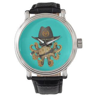 Relógio De Pulso Caçador bonito do zombi do polvo do bebê