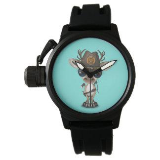 Relógio De Pulso Caçador do zombi da rena do bebê