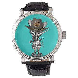 Relógio De Pulso Caçador do zombi da zebra do bebê