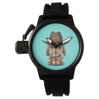 Relógio De Pulso Caçador do zombi do coelho do bebê