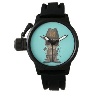 Relógio De Pulso Caçador do zombi do leão de mar do bebê