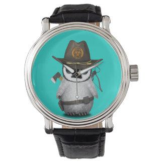 Relógio De Pulso Caçador do zombi do pinguim do bebê