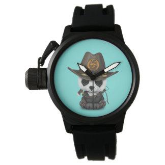 Relógio De Pulso Caçador do zombi do urso de panda do bebê