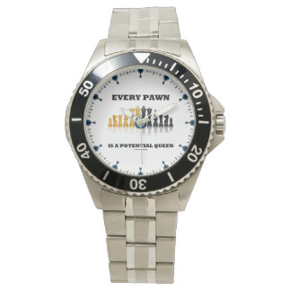Relógio De Pulso Cada penhor é uma xadrez potencial da rainha que