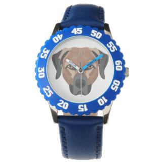 Relógio De Pulso Cão Brown Labrador da ilustração